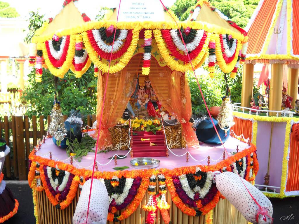 Altar en el templo