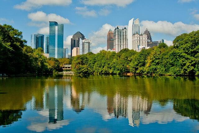 Vista de Atlanta en el estado de Georgia