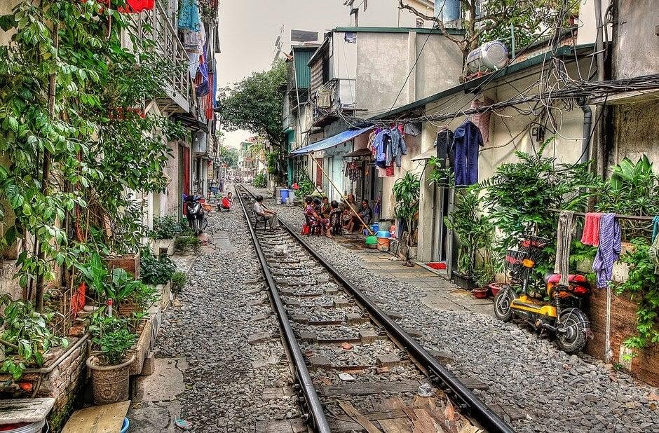 Calle del Barrio Antiguo de Hanoi