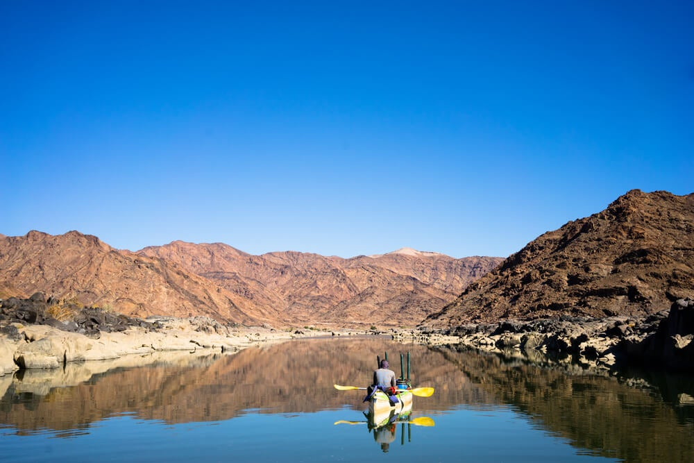 Actividades en el río Orange, al sur de África