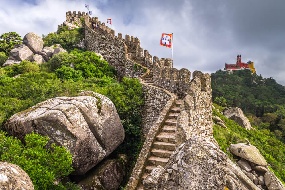 Visitamos el castillo de Sintra en Portugal