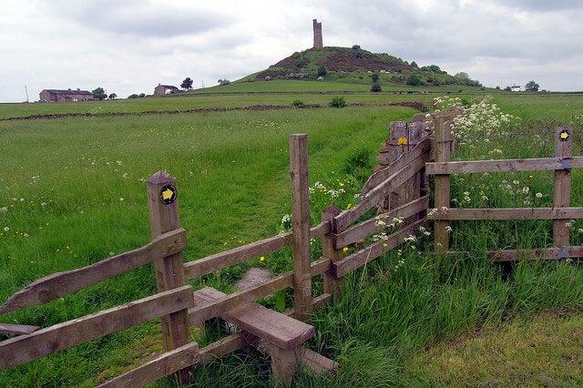 Vista de Castle Hill en Huddersfieldm