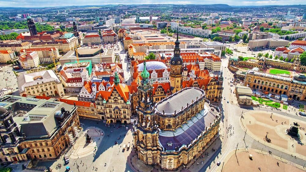 Vista aérea de la Catedral de la Santísima Trinidad