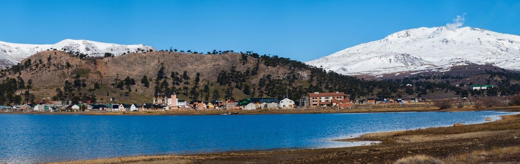 Vista del pueblo de Caviahue