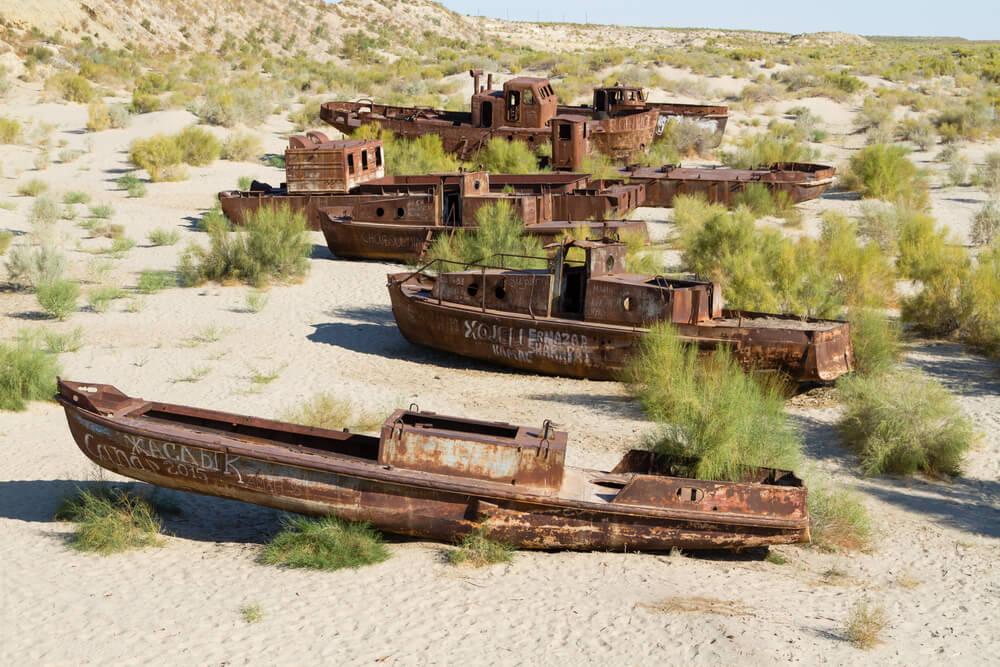 Cementerio de barcos de Moynaq