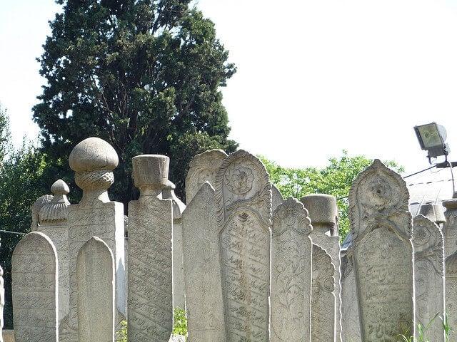 Tumbas del cementerio de Eyüp en Estambul