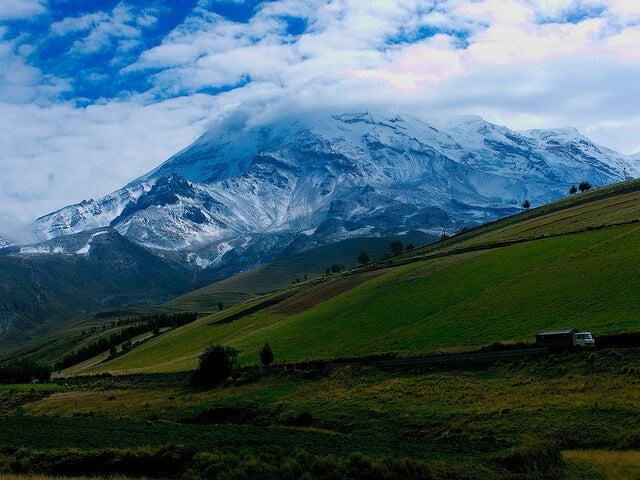 Vista del Chimborazo, una de las montañas más inspiradores