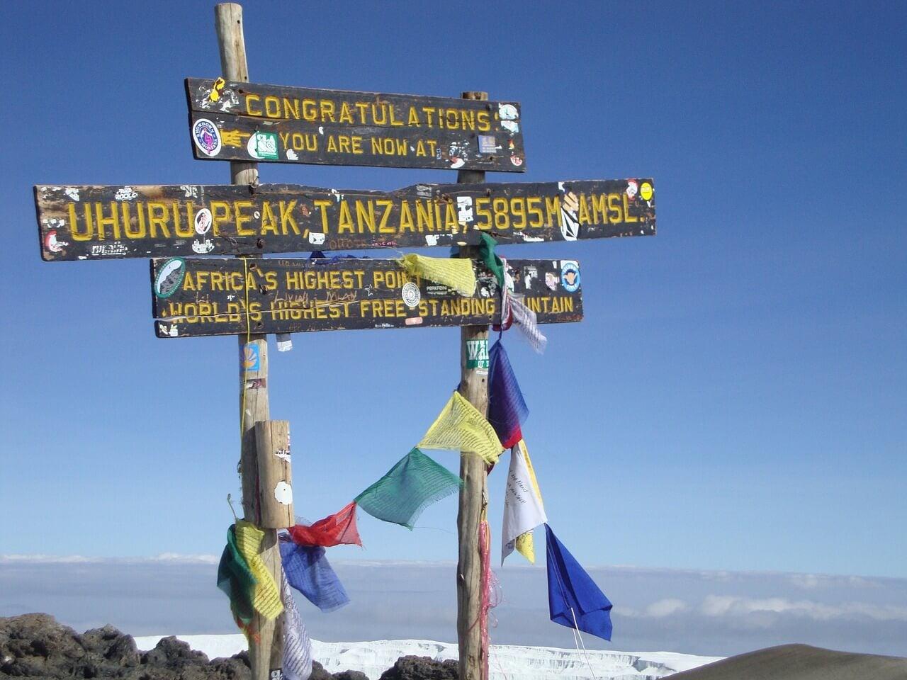 Cima del monte Kilimanjaro