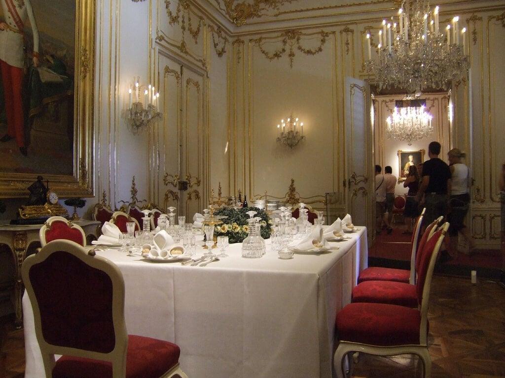 Comedor en el palacio de Schonbrunn