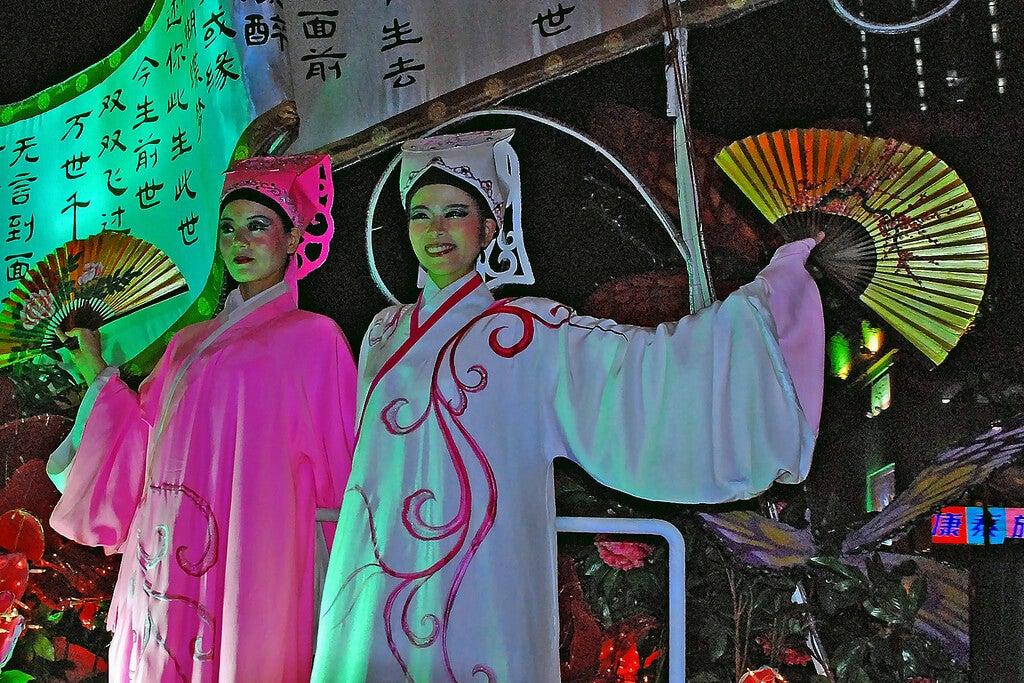 Espectáculo durante el Chap Goh Mei
