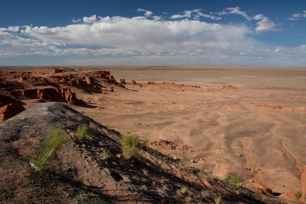 Vista de Flaming Cliffs en el desierto de Gobi