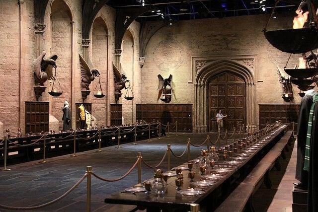 Gran Comedor en los estudios de Harry Potter