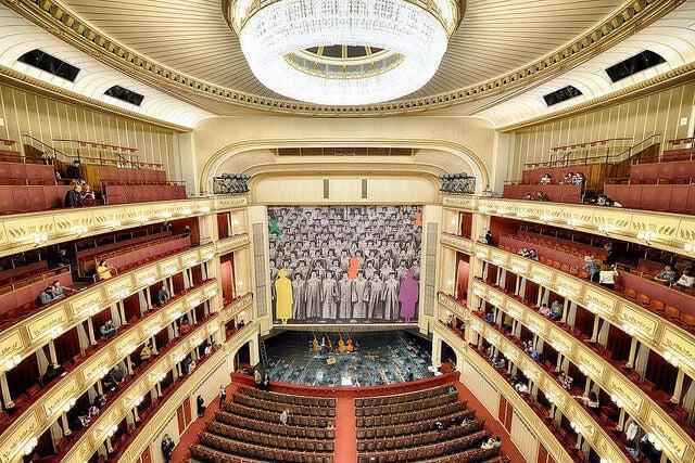 Sala principal de la Ópera Estatal de Viena