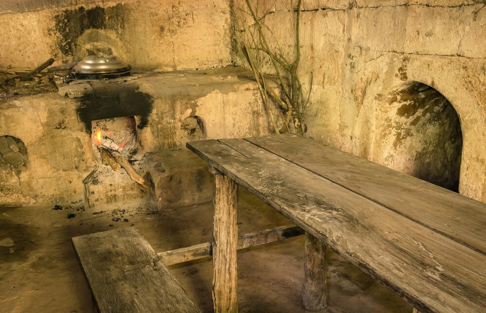 Interior de los túneles de Cú Chi