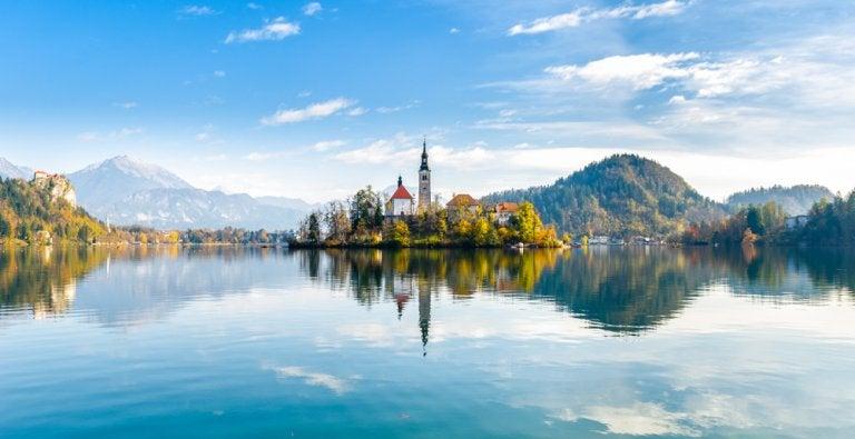 Las increíbles aguas del lago Bled en Eslovenia
