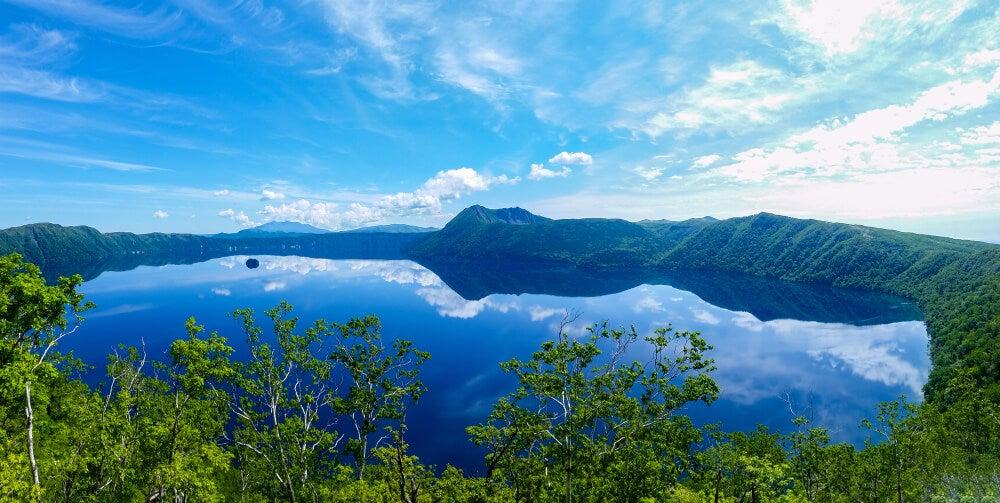 El lago Masyuko en la isla japonesa de Hokkaido