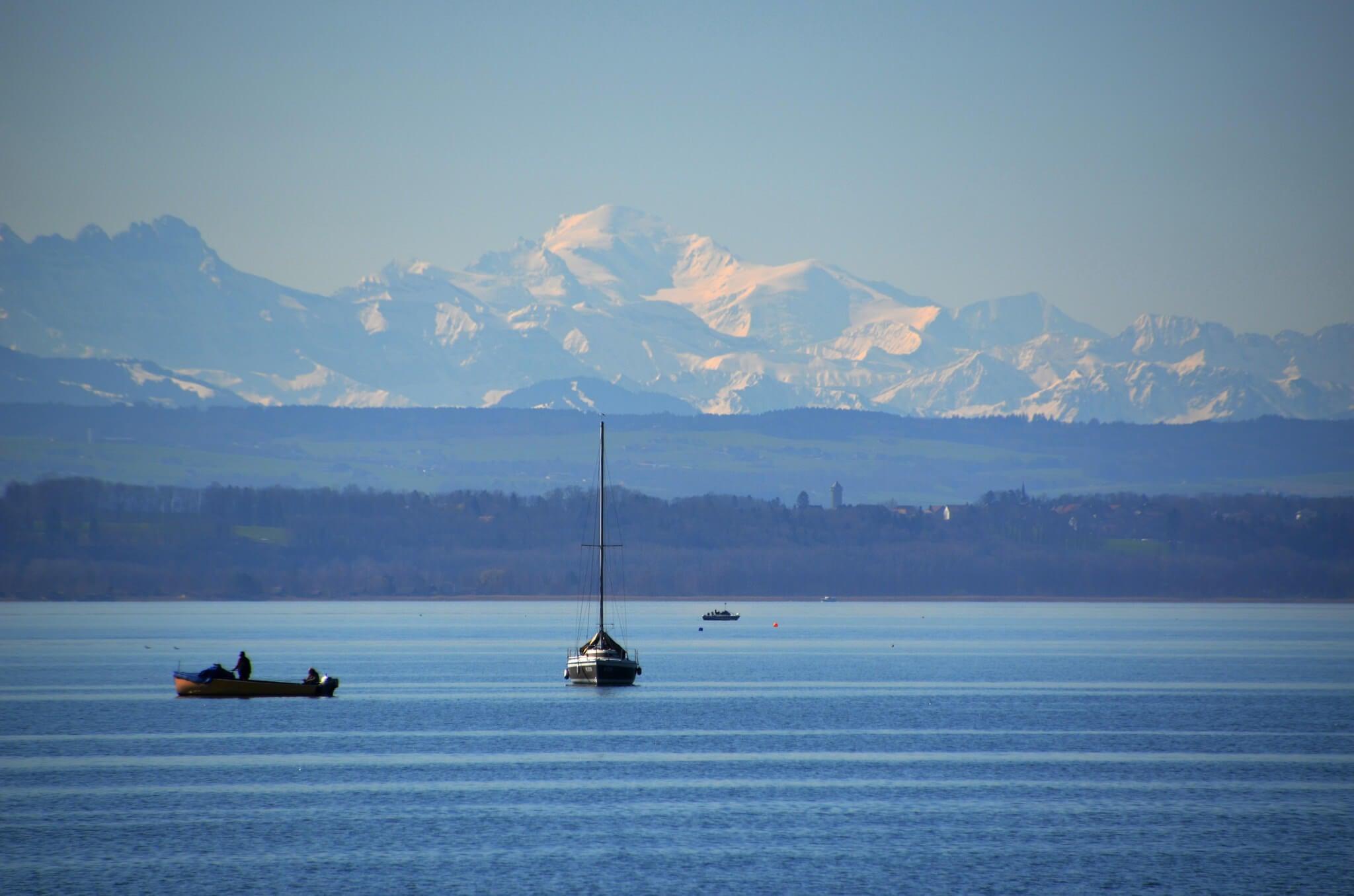 Vista del lago Neuchatel