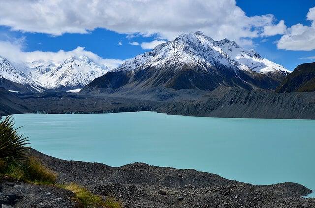 Lago Tasman en el Parque Nacional Aoraki