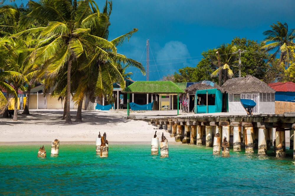 Vista de Mano Juan en isla Saona