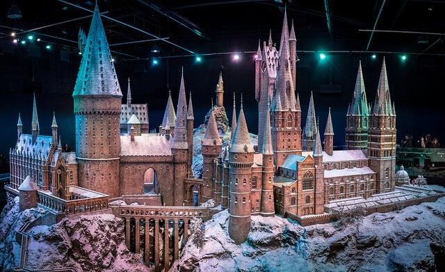Maqueta de Hogwarts en los estudios de Harry Potter