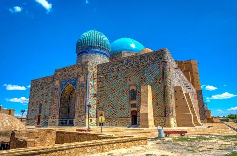 La belleza del mausoleo de Khoja Ahmad Yasawi