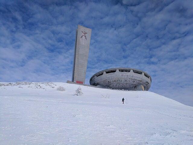 Vista del Monumento de Buzludzha