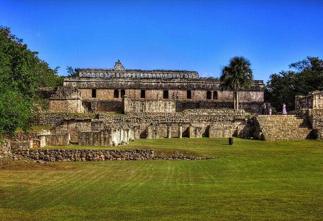 Palacio de Teocalli en las ruinas de Kabah