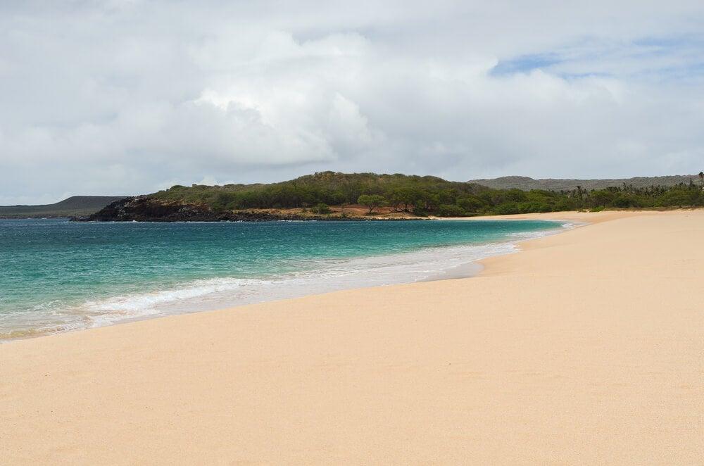 Playa de Papohaku en Hawái