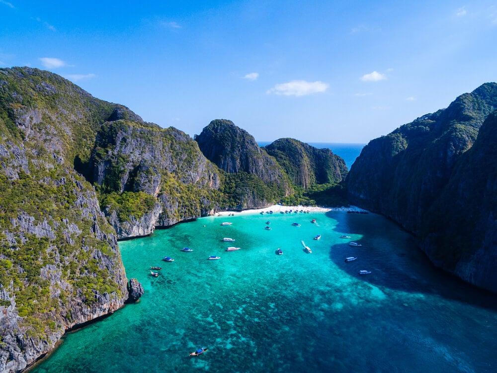 Vista aérea de Tonsai Bay
