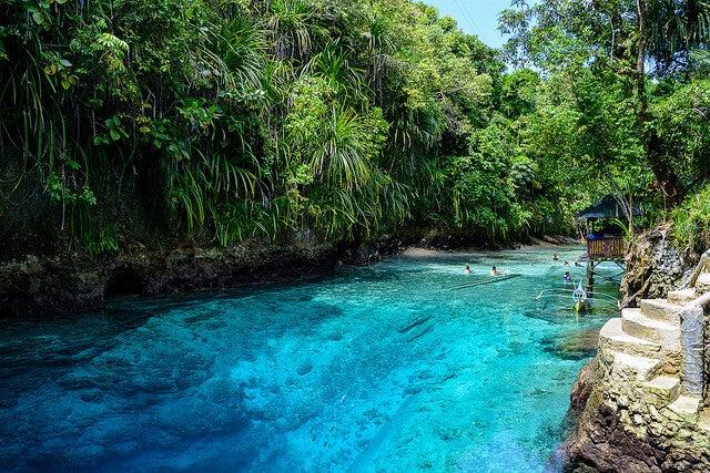 Zona de baño del río Hinatuan