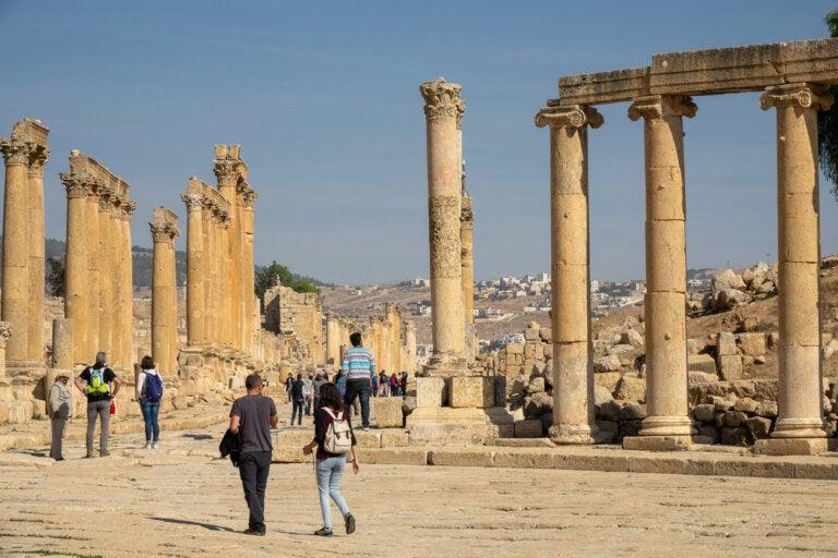 Una visita a las ruinas de Jerash en Jordania