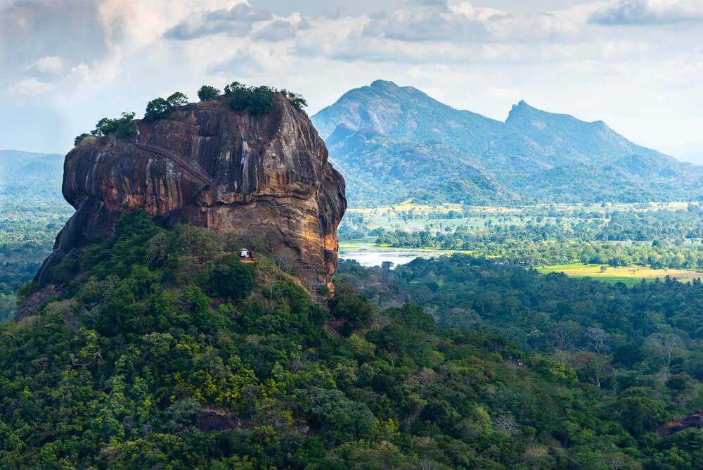 Fortaleza de Sigiriya en la isla de Sri Lanka