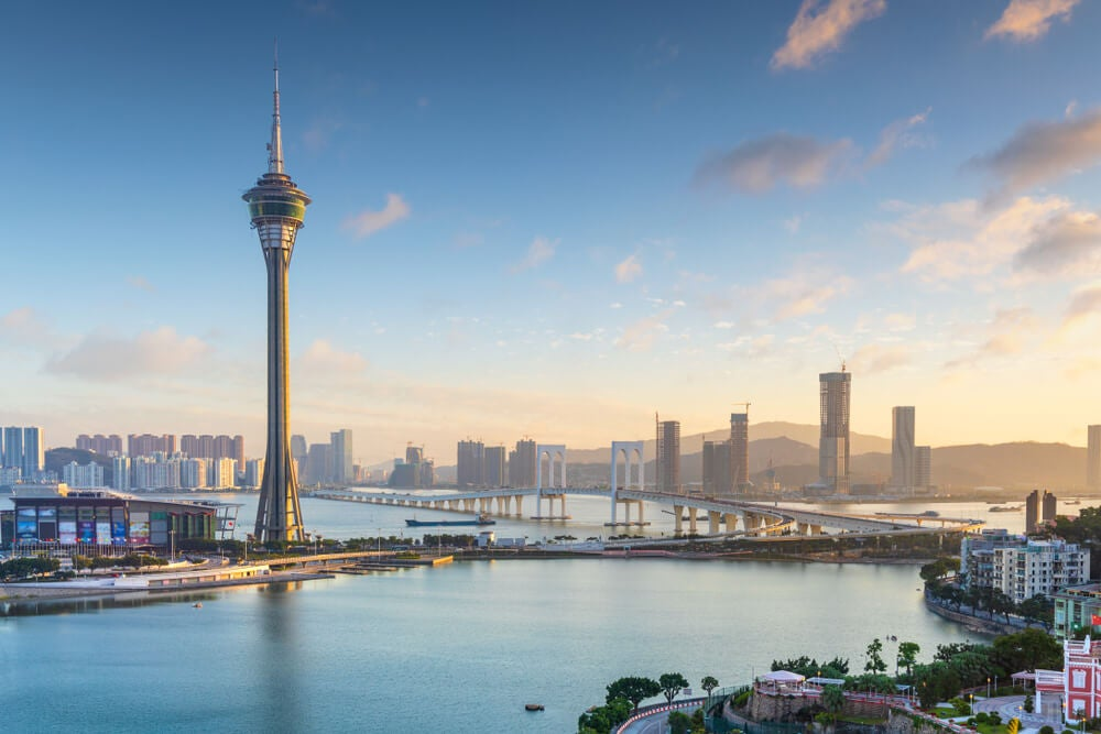 Vista de la torre de Macao