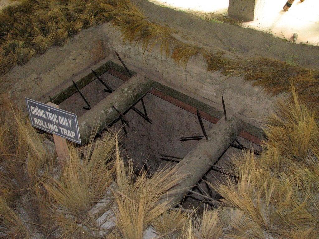 Trampa en los túneles de Cú Chi