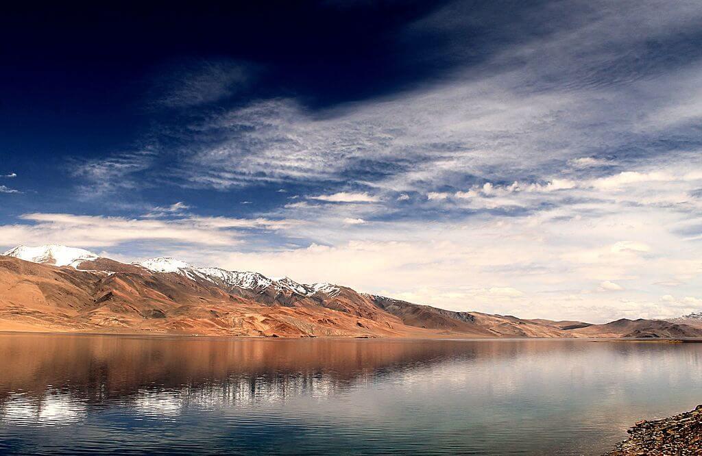Lago Toso Moriri en invierno