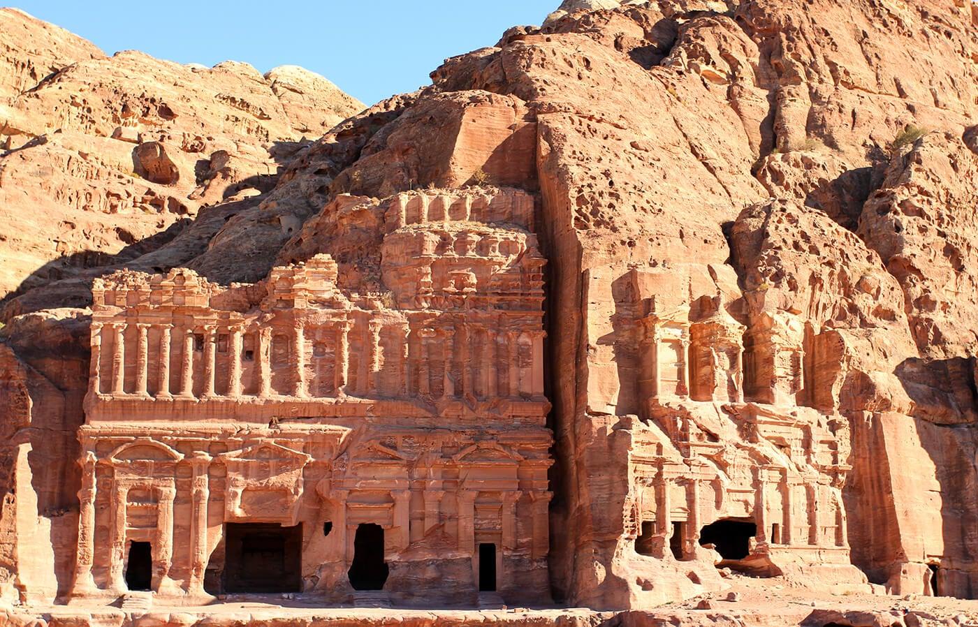 Tumbas Reales en la ciudad de Petra