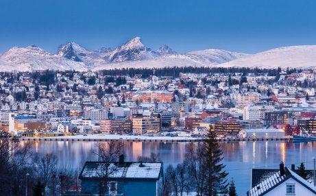 Vista de Tromso en Noruega