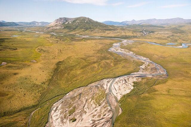 Vista aérea del Parque Gates of the Arctic