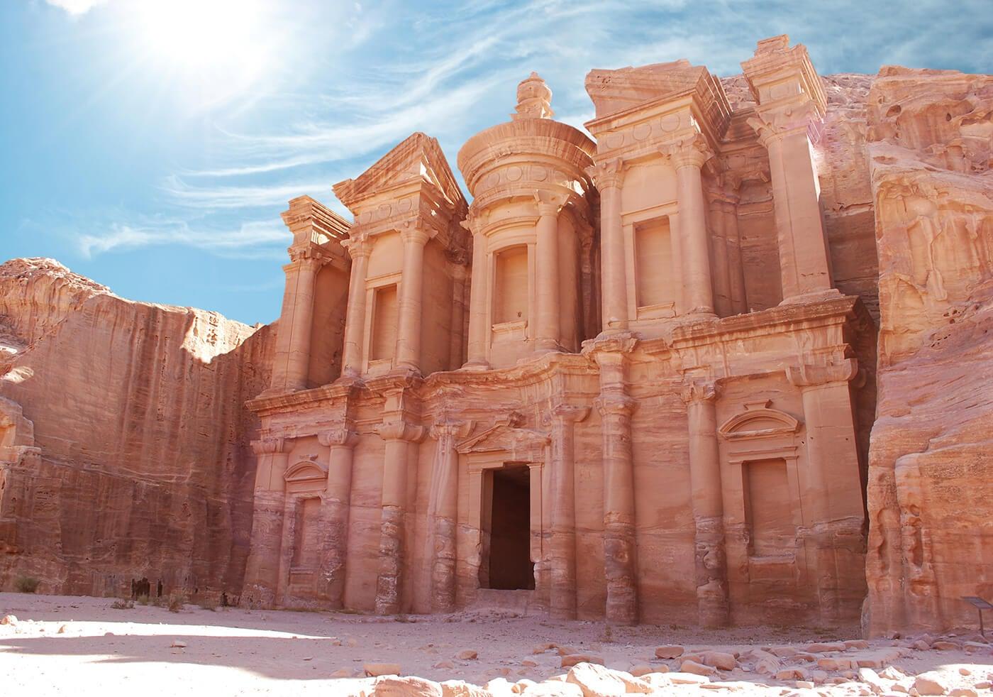 El Monasterio de la ciudad de Petra
