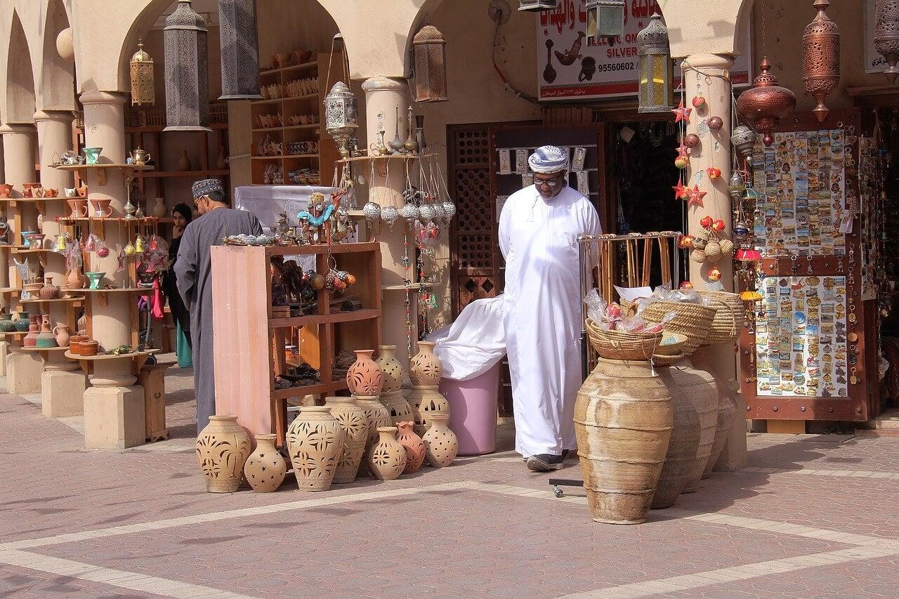 Vendedor en un zoco árabe