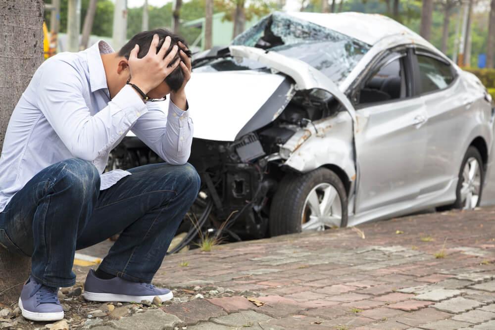 Viajero que ha sufrido un accidente