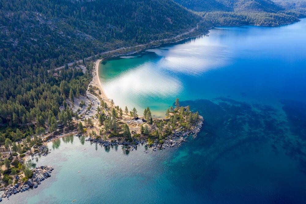 Vista aérea del lago Tahoe