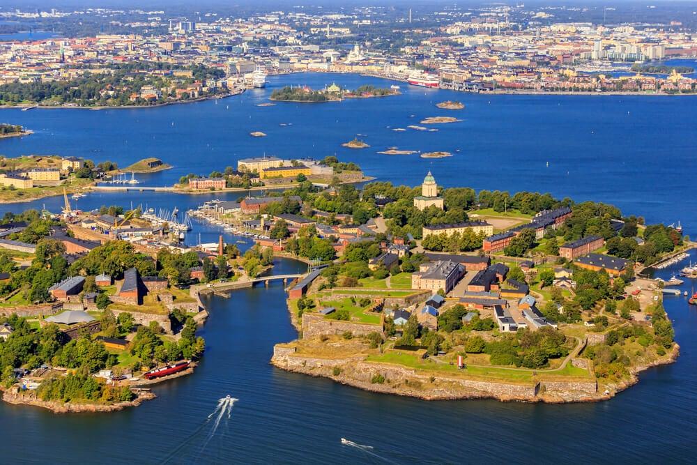 Vista aérea de la fortaleza de Suomenlinna