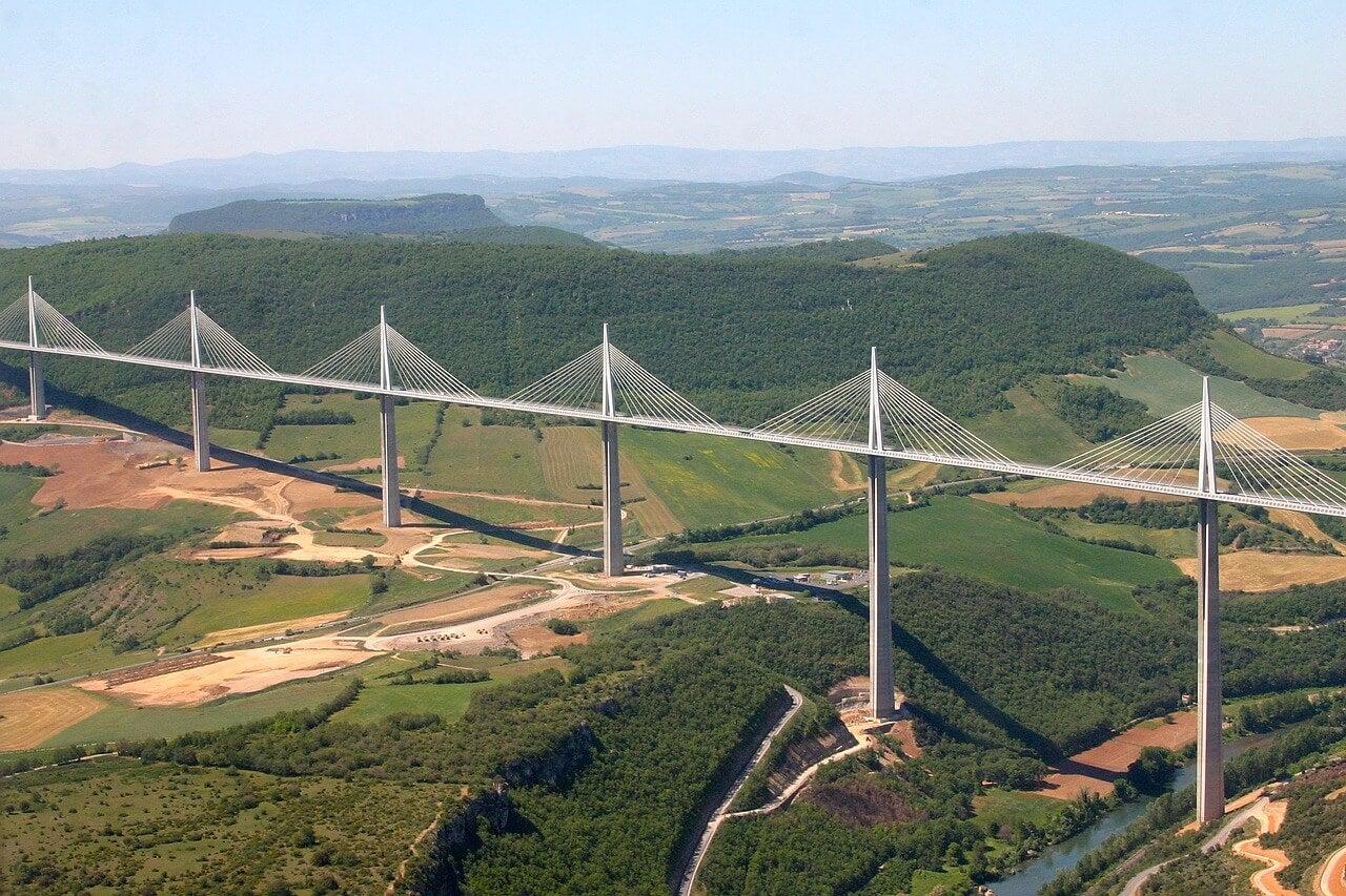 Vista aérea del viaducto
