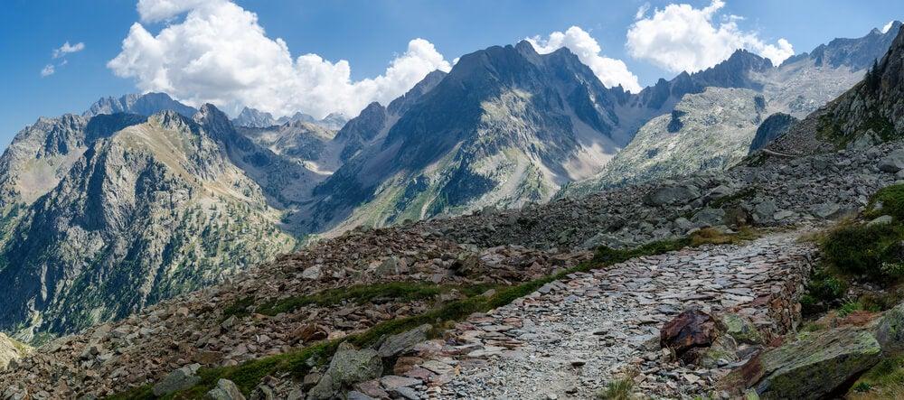 Vista de los Alpes Marítimos