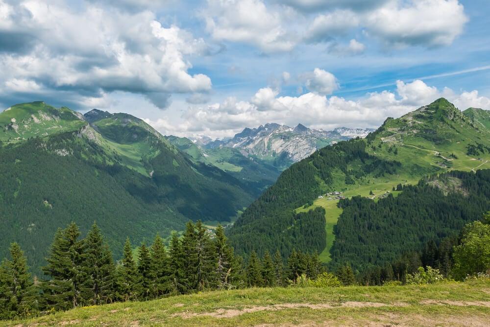 Vista de los Alpes