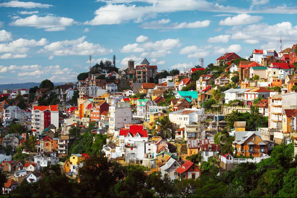 Vista de Antananarivo en Madagascar