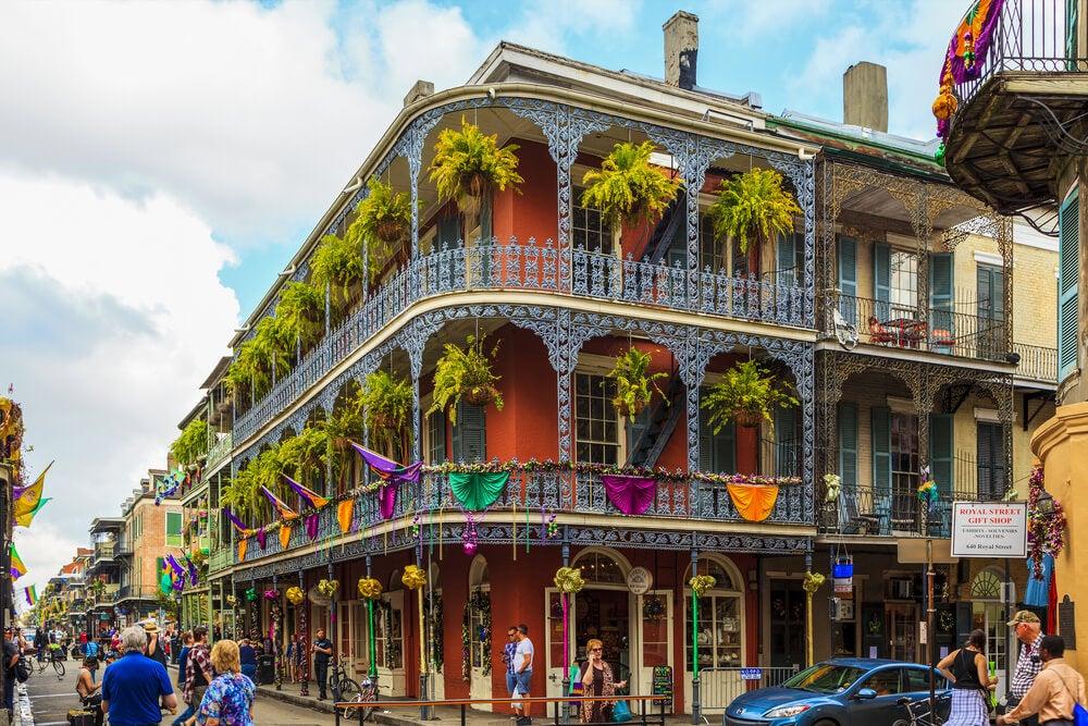 Barrio Francés en la ciudad de Nueva Orleans