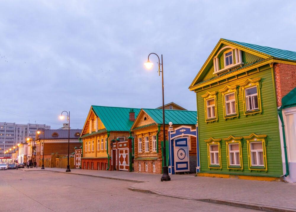 Barrio tártaro en Kazán