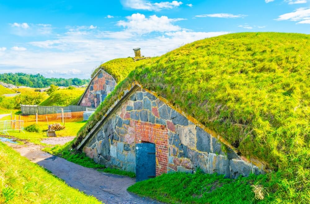 Almacenes en la fortaleza de Suomenlinna